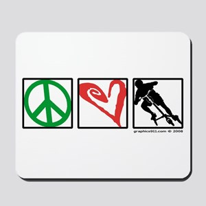 PEACE LOVE CARVE Mousepad