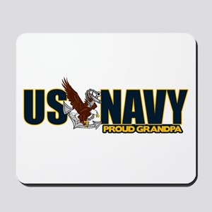 Navy Grandpa Mousepad