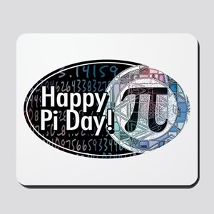 Happy Pi Day Oval Mousepad