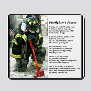Old Version Firefighter Prayer Mousepad