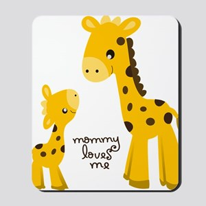 Mother and child Giraffe Mousepad