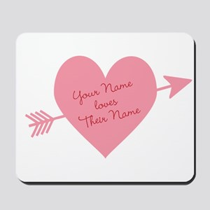 Personalized Valentine Heart Mousepad