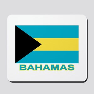 Bahamian Flag (labeled) Mousepad