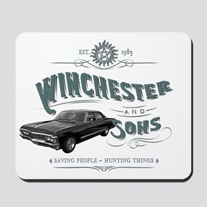 Supernatural - Winchester & Sons gre Mousepad