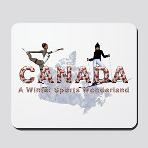 Canada Winter Sports Mousepad