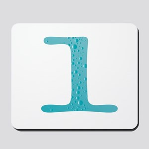 Water Numbers Mousepad
