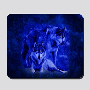 Winter Wolves Mousepad