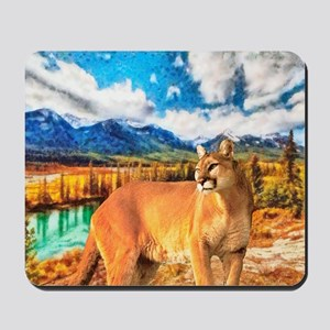 River Cougar Mousepad