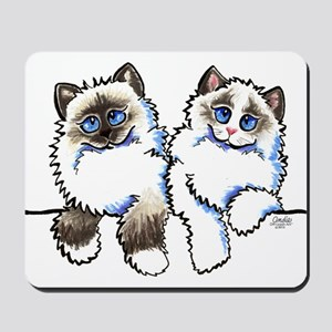 Ragdolls Pair Off-Leash Art™ Mousepad