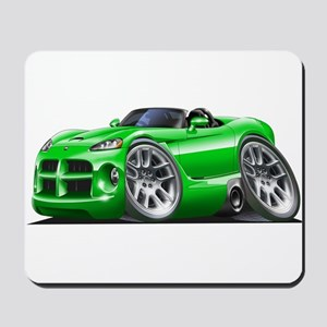 Viper Roadster Green Car Mousepad