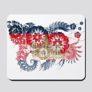Cambodia Flag Mousepad