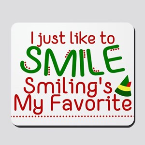I Smile Elf Movie Quote Mousepad