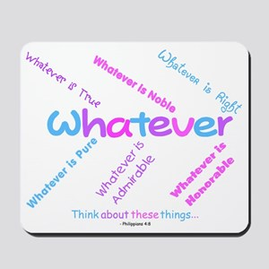 Whatever - Light Blue, Purple Mousepad