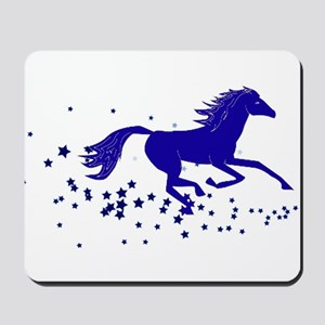 Blue Stars Pony Mousepad