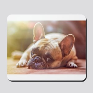 french bulldog laying Mousepad