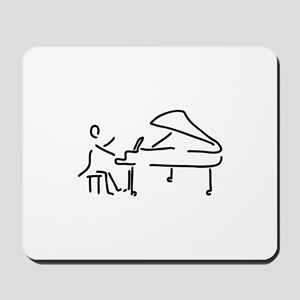 pianist piano player wing Mousepad