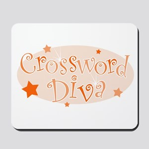Crossword Diva [orange] Mousepad