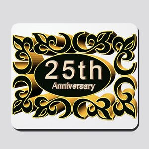25th Wedding Anniversary Mousepad