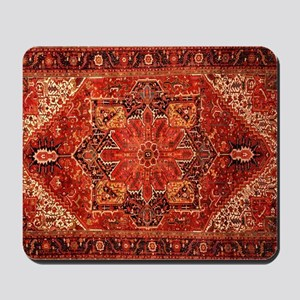 Antique Persian Rug Red Carpet Mousepad