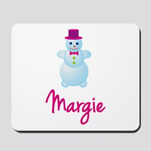 Margie the snow woman Mousepad
