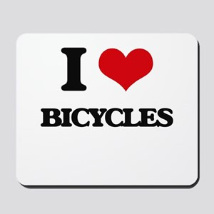I Love Bicycles Mousepad