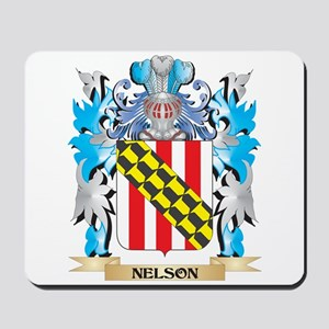 Nelson Coat of Arms - Family Crest Mousepad