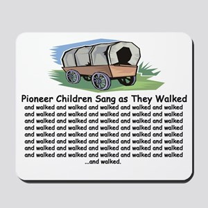 Pioneer Children Walked Mousepad