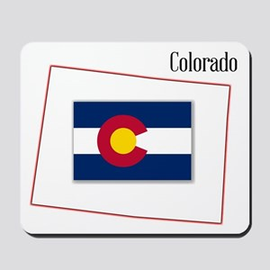 Colorado State Map and Flag Mousepad
