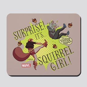 Squirrel Girl Fighting Crime Mousepad