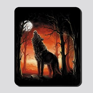 Howling Wolf at Sunset Mousepad