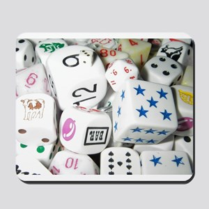 Lets Roll - White Dice Mousepad