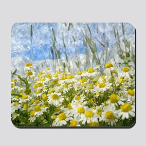 Painted Wild Daisies Mousepad
