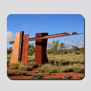 Red Centre Way sign, Outback Australia Mousepad