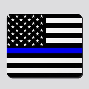 Police: Black Flag & The Thin Blue Line Mousepad