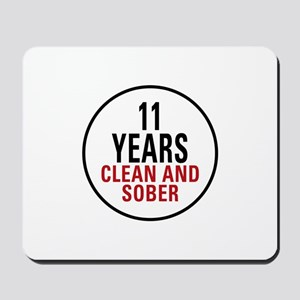 11 Years Clean & Sober Mousepad