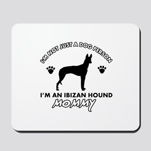 Ibizan Hound dog breed design Mousepad