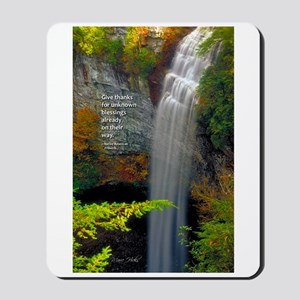 Waterfall Blessings Mousepad