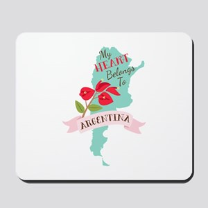 My Heart Belongs To Argentina Mousepad