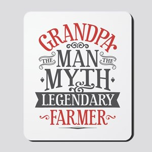 Grandpa Farmer Mousepad