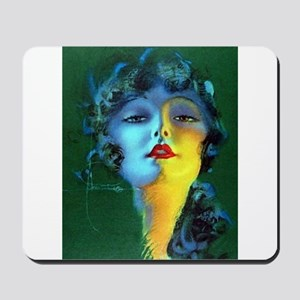 Flapper Art Deco Woman on Green Roaring 20s Mousep