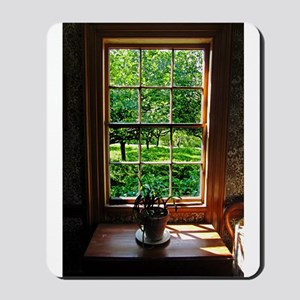 Colonial Cottage Window Mousepad