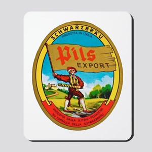 Italy Beer Label 2 Mousepad