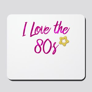I Love The 80s Retro Star product Gift f Mousepad