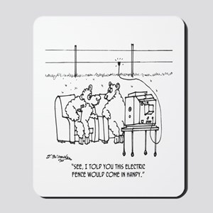 Electric Fence Is Handy Mousepad