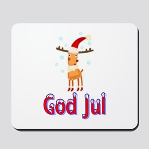 God Jul Reindeer Mousepad
