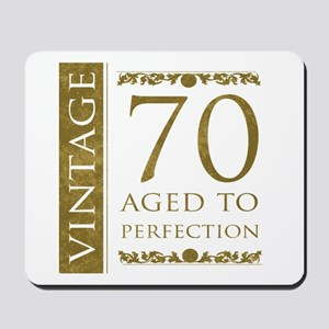 Fancy Vintage 70th Birthday Mousepad