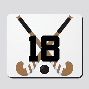 Field Hockey Number 18 Mousepad