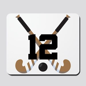 Field Hockey Number 12 Mousepad