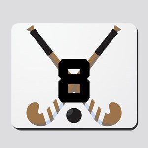 Field Hockey Number 8 Mousepad