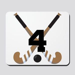 Field Hockey Number 4 Mousepad